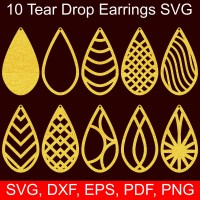 5 Earrings SVG templates to make beautiful DIY faux ...