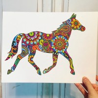 Stickable art for your car laptop wall etc by MeganJDesigns