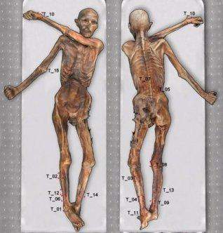 Ötzi, el Hombre de Hielo, está lleno de tatuajes