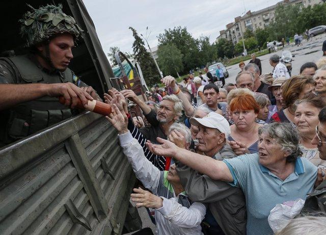 En frebrero de 2018, el PMA dejará de distribuir alimentos en Ucrania