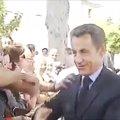 Foto: Sarkozy, zarandeado durante una visita a una localidad del suroeste de Francia  (BFMTV)