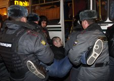 Protestas En Moscú (Rusia) Contra Putin