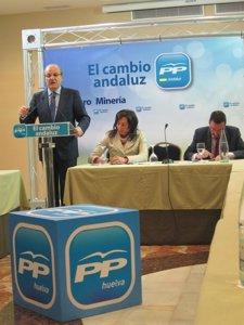 El Alcalde De Huelva, Pedro Rodríguez, En El Foro De La Minería Del PP De Huelva
