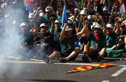 Marcha de los mineros por Madrid