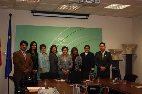 Profesionales en violencia de género de Perú visitan el Instituto Andaluz de la Mujer para conocer sus recursos