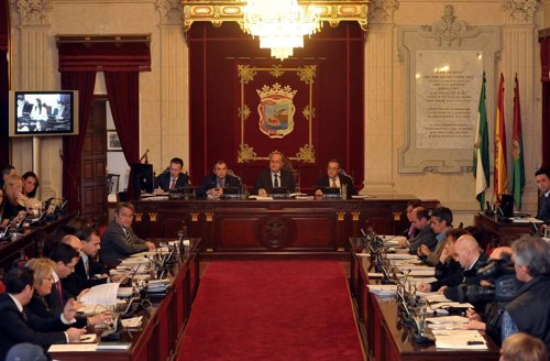 Pleno en el Ayuntamiento de Málaga