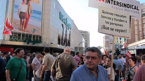 Manifestación sincatos contra los recortes