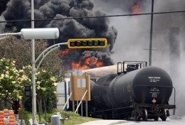 Explosión de un tren en Canadá