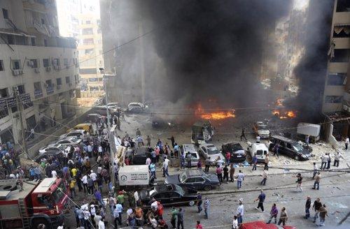 Explosión de un coche bomba en Beirut