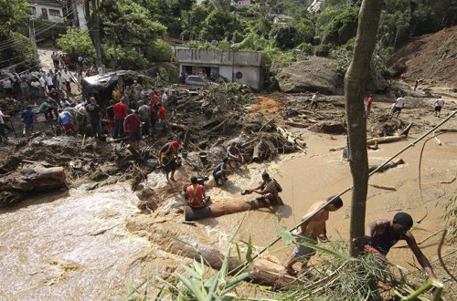 Lluvias torrenciales en Brasil