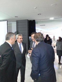 Javier Fernández, Graciano Torre, Alfonso del Río (Asturex) y Cesar Figaredo (FA
