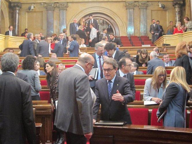 Artur Mas, en el pleno del Parlament