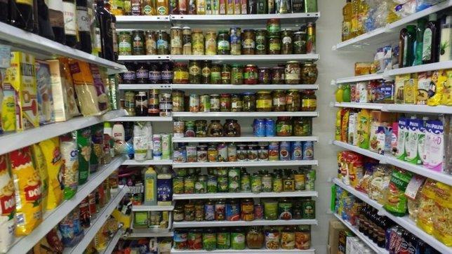 Tienda de Jaén con alimentos caducados