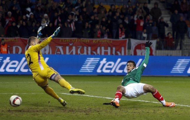 [Vídeos HD] Raúl Jiménez se luce con México y anota dos goles 1