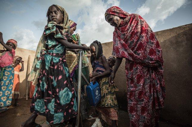 En Madoul hay dos puntos de agua limpia y sus habitantes han trabajado para mantener la higiene
