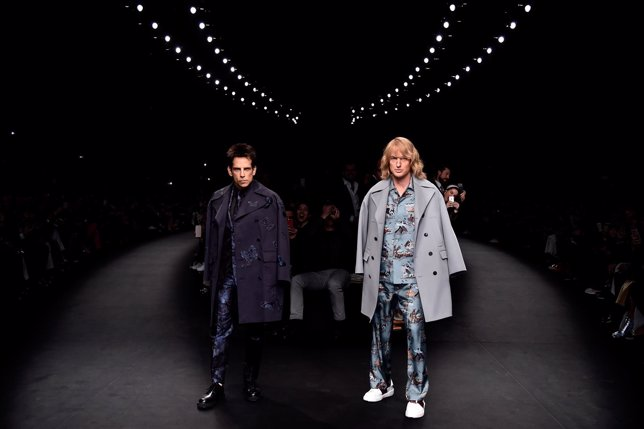 Derek Zoolander and Hansel walk the runway at the Valentino Fashion Show during