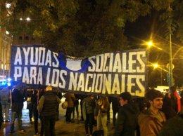 Manifestación Hogar Social tras el desalojo
