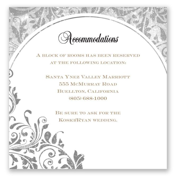 Black Wedding Invitation With White Wording And Decorated Flowers Notes On The Various