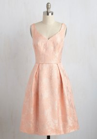 Pastel Bridesmaids: Peach Bridesmaid Dresses - EverAfterGuide