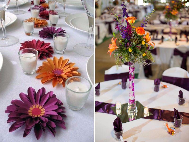 Plum And Orange Wedding Centerpieces Deweddingjpg