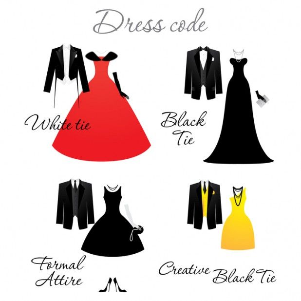 Dress Code On Wedding Invitations