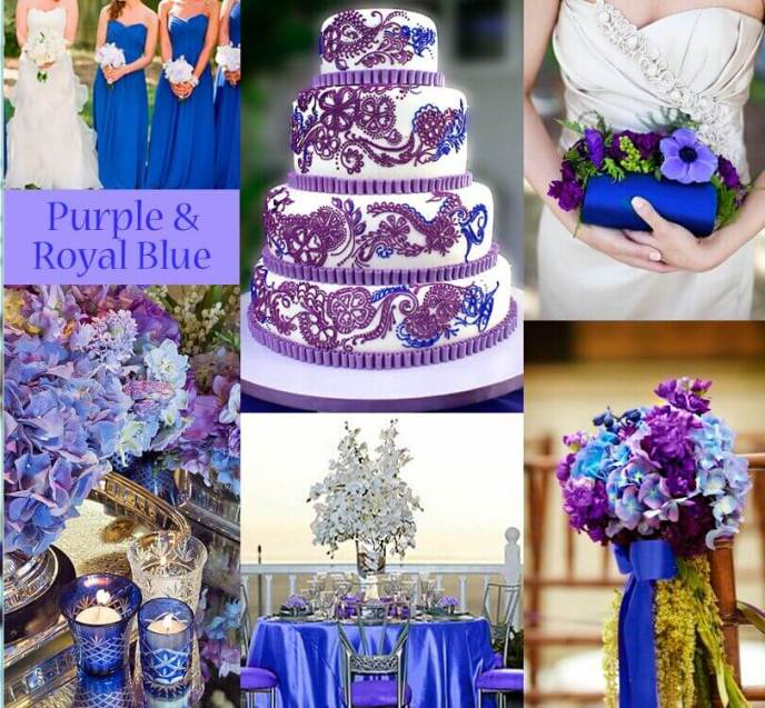 Purple And Navy Blue Wedding Colors