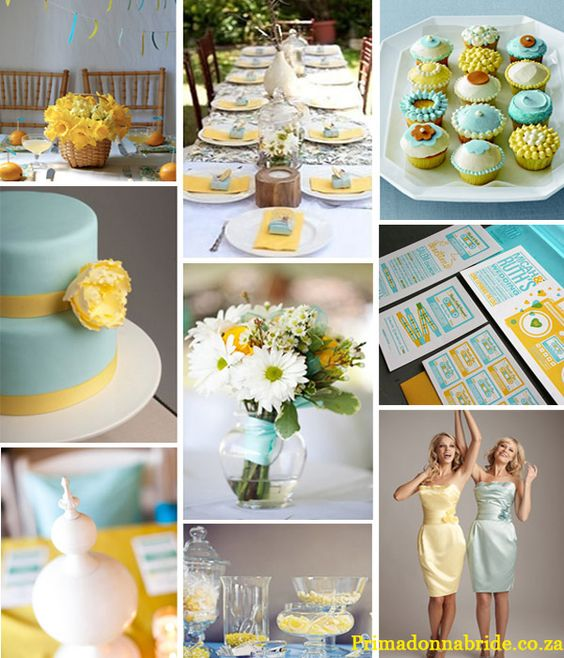 Pale Blue And Yellow