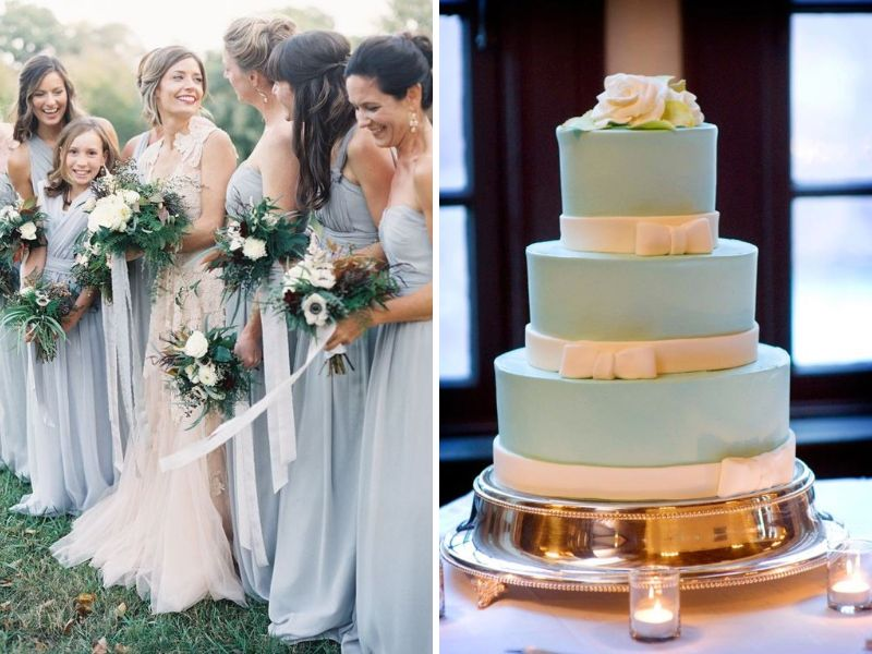 Champagne and Light Blue and other Great Color Combos for Weddings  EverAfterGuide