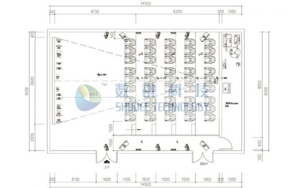 3D Cinema Movie Theater Layout Design for sale