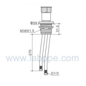 SHB6B-Fume Hoods remote control valve,panel mounted,gas