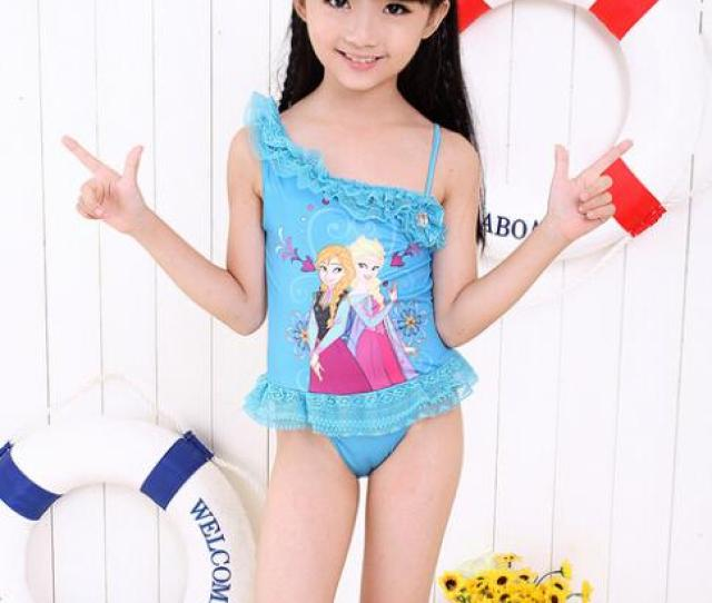 Hot Sexy Young Baby Girls Queen Elsa Anna Frozen Swimming Costumes Images