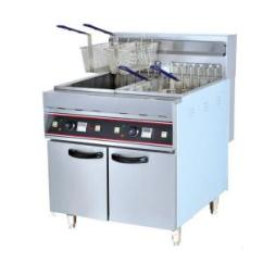 Kitchener Triple Basket Deep Fryer Walnut Kitchen Table 9kw 380v Freestanding Twin Quality 28l 2 For Sale