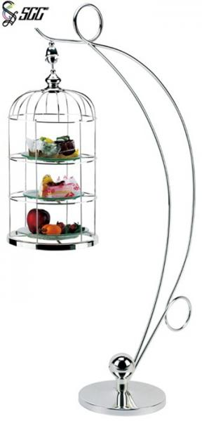 3 Tier Afternoon Tea Stands , Hanging Bird Cage Style
