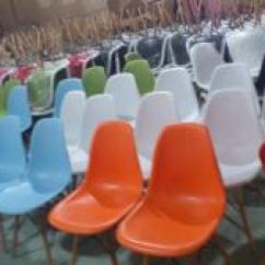 Mid Century Modern Plastic Chairs Renting For A Wedding Dc231a Orange Shell Chair Sale