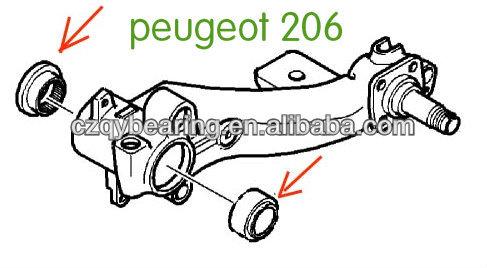 KS559.02/03/04 PEUGEOT 206 REAR AXLE TRAILING ARM BEARING