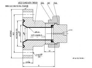 Weco Adapter Union Flange 7-1/16