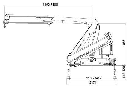CE truck mounted knuckle boom cranes , truck mobile crane