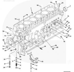 12# 3328742 Screw, Hexagon Head Cap, Cummins engine parts