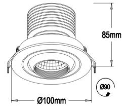Low Profile Led Recessed Lighting Low Bay LED Retrofit