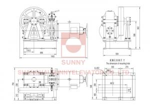 VVVF Lift Traction Machine Traction Elevator Components