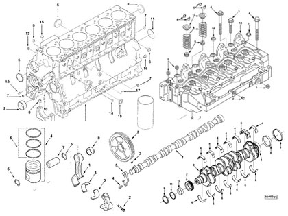 DCEC Cummins 6B,6BT,6BTA,6BTAA series diesel engine spare