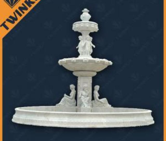 Quality Carved Stone Mermaid Water Fountains Outdoor With Lion Head Spout For Sale