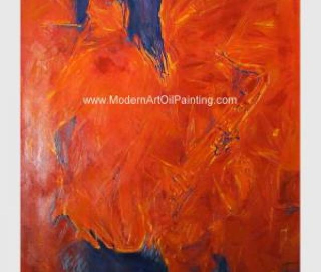 Quality Woman Modern Art Oil Painting Abstract Art Paintings Smoking Woman Saxophone For Sale