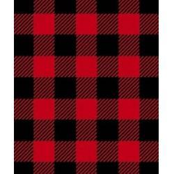 Red Black Plaid Fabric, Red Black Plaid Fabric
