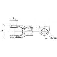 pto spline yoke, pto spline yoke Manufacturers and