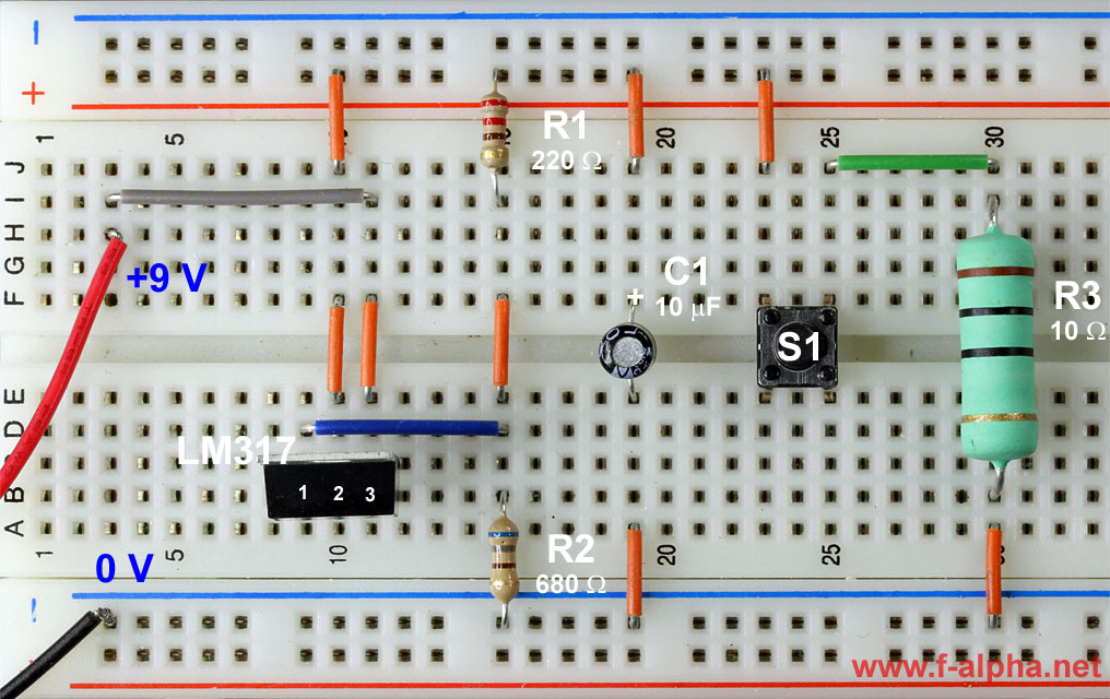 Circuit Measurement Of The Voltage V Out Of The Lm317 Enlarge