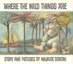 Cover for the book 'Where the Wild Things Are'