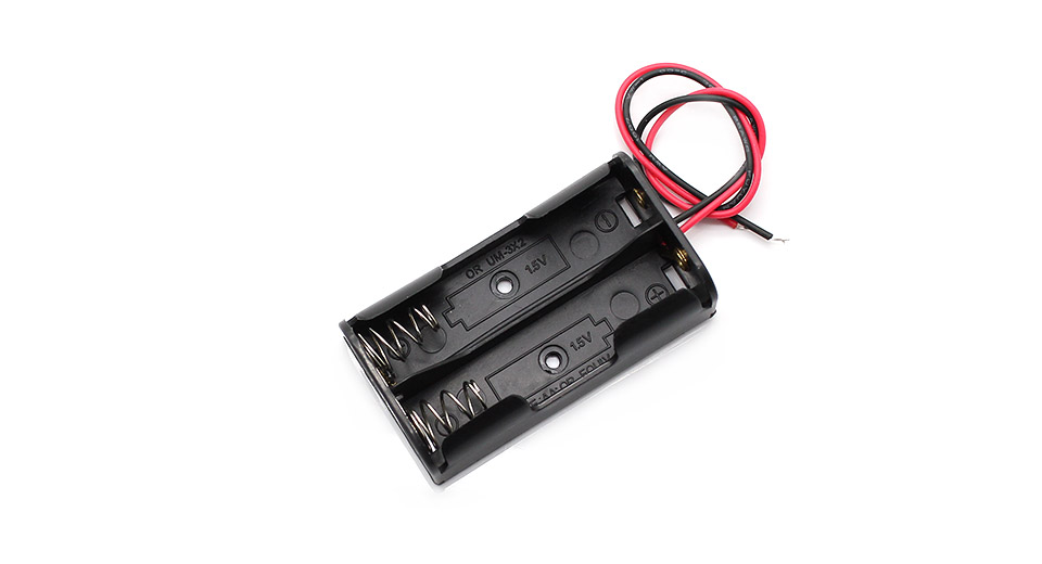 $1.34 2*AA Parallel Batteries Holder Case Box with Leads