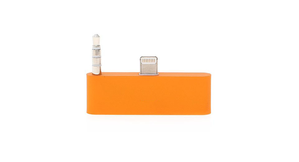 8-pin to 30-Pin Data/Charger/Audio Adapter for iPhone 5 / iPod Touch 5 (Orange)