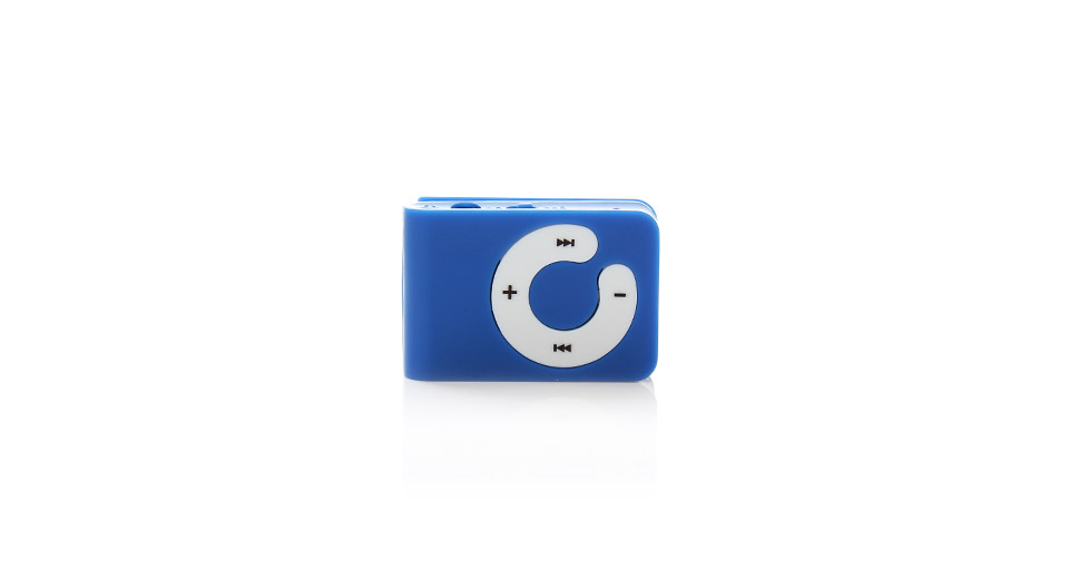 C Keys Rectangular Shaped Clip MP3 Music Player with Circle Operation Pad and microSD Card Slot